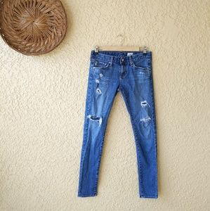 Ag skinny distressed jeans